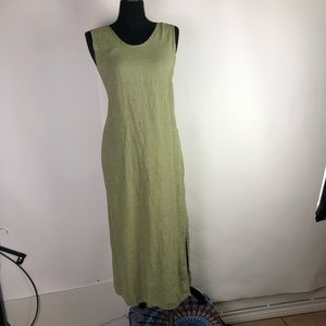 FLAX Jeanne Engelhart Kaftan Dress Linen Medium